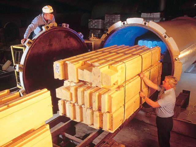 Pressure treating cylinder