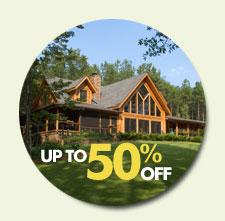 log cabin home discount