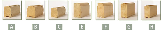 log cabin home log profiles