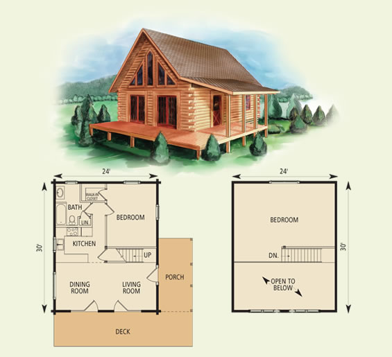 west virginian log home and log cabin floor plan