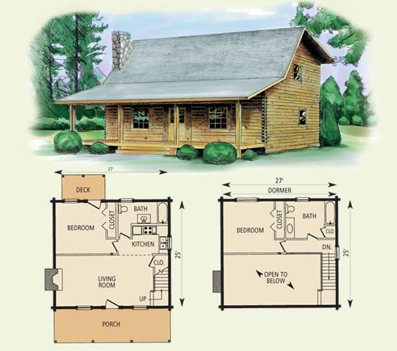 Wilderness Log Home Floor Plan
