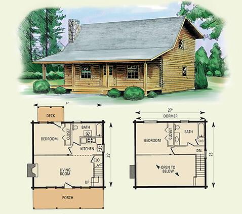 wilderness log home and log cabin floor plan