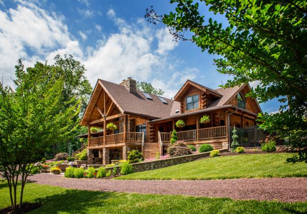 custom log cabin home