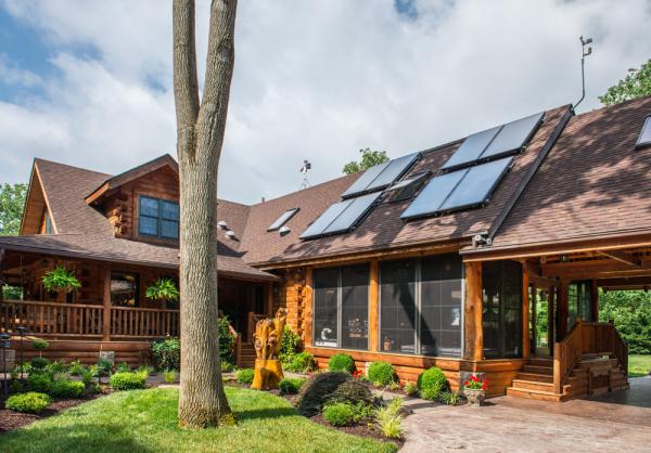 log home solar