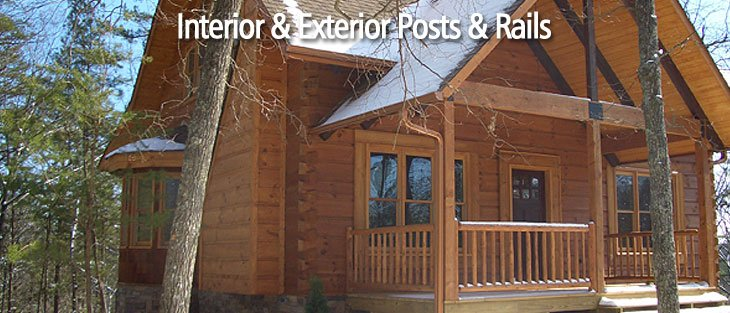 Interior and exterior posts and rails