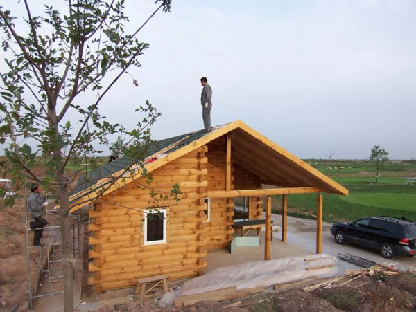 log home in China