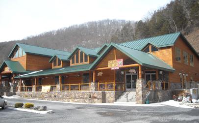 log cabin commercial gift shop