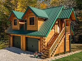 log cabin kit garage with apartment