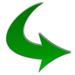Green-arrow-curved-upright_flip1