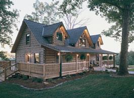 Fair Oaks log home plan