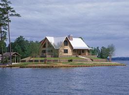 dogwood log cabin kit on lake