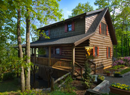 Nantahala log cabin  floor plan