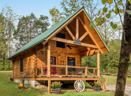 small log cabin kit home tour
