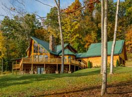 custom log home tour  with prow