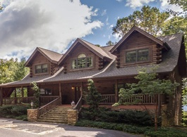 custom log home design