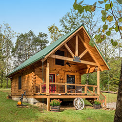 Tour log cabin homes