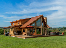 modified_lakefront log home