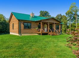 small ranch dovetail log cabin kit