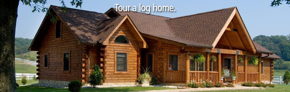 tour a log cabin home