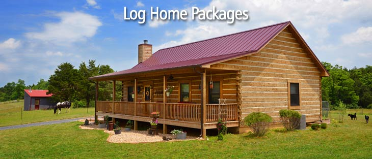Ranch Style Log Home And Log Cabin Home